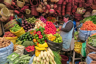 Selling Vegetables in Sucre