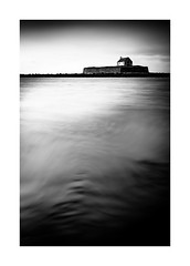 Church in the sea (catkin314) Tags: cwyfanchurch bw blackandwhite movement longexposure wales northwales anglesey