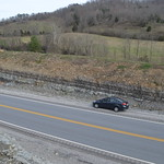 Base of the roadcut on the south side of KY 49 thumbnail