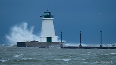 Port Maitland storm (Earl Reinink) Tags: storm wind water lake lighthouse waves clouds sky architecture old portmaitlandlighthouse earl reinink earlreinink nikon rdddhdhdza