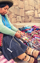The Weaver - Cusco (benjamin.t.kemp) Tags: cusco peru person weaver fabric textile tradition weaving creation colour work life