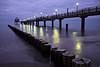 Seebrücke Zingst (Jens Steidtner) Tags: longexposure sea beach coast seaside lights pier landscape outdoors travel water night zingst germany fujifilm x100t ostsee