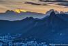 Christ the Reedemer just after Sunset, as seen from Sugarloaf Mountain (adventurousness) Tags: christtheredeemer christoredentor riodejaneiro sugarloaf brasil brazil dusk hdr rj sunset