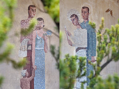 Former Entrance Of A Hospital (pni) Tags: human figure man woman child kid gestalt art decoration mosaic kivelän sairaala stengårds sjukhus kivelä hospital töölönterveysasema tölöhälsostation healthstation helsinki helsingfors finland suomi pekkanikrus skrubu pni einokauria