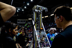 IMG_7872 (holytrinityrobotics) Tags: oakville omgrobots light event coverage robot robotics hersheyscentre gold mechanical electrical pneumatics onchampsfrc first firstcanada frc ontario tronic titans
