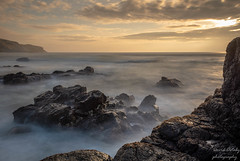 Sunset at the Bay (Dave2638) Tags: 2018 april scotland kintyre roadtrip machrihanish slow shutter long exposure rock rocks wet