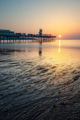 Paignton Sunrise (Rich Walker75) Tags: paignton beach beaches pier sunrise sand water waves sea ocean seascape seaside seascapes dawn morning sun sky reflection landscape landscapes landscapephotography canon eos eos80d efs1585mmisusm efs greatbritain england