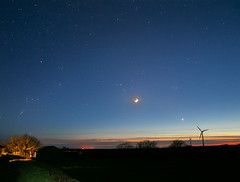 The Moon, Venus and Pleiades. (Star Watcher) Tags: stars moon pleiades orion night sunset