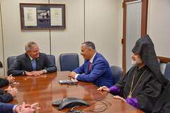 Meeting with his Eminence Anushavan Tanielian, Prelate of the Armenian Apostolic Church