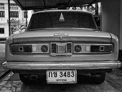Thailand - Wat Phra That Phanom - Toyota (st3000) Tags: asia seasia southeastasia thailand siam isan watphrathatphanom thatphanom car toyota old oltimer vintage retro back licenseplate thai japanese gm5 20mm