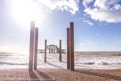 The remains of the West Pier, Brighton *5* (Zoë Power) Tags: westpier beach uk brighton derelict blueskies coast sea seaside