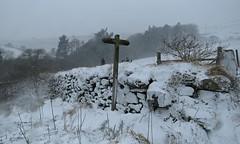 Snowy Footpath! ('cosmicgirl1960' NEW CANON CAMERA) Tags: devon dartmoor snow winter wintry white blizzard weather extreme yabbadabbadoo