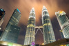 Petronas towers (skweeky ツ) Tags: kuala lumpur kl malaysia malaisie petronas towers tours color colour colourful fountain long exposures night cloud cloudy move