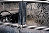 """Gangster headache (hutchphotography2020) Tags: oldcar rustedcar window smashed bullethole """"nikonflickraward"""""""