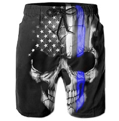 American Blue Line Flag Beach Shorts (mywowstuff) Tags: gifts gadgets cool family friends funny shopping men women kids home