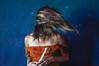 Instante (Kathy Chareun) Tags: fineart orange blue azul naranja dress vestido hair pelo fly volar snow nieve wall pared autorretrato autoretrato selfportrait woman mujer femme girl chica day dia light luz magic magia art arte photography photographie fotografia colour color
