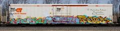 Verse/Zew/Revok (quiet-silence) Tags: graffiti graff freight fr8 train railroad railcar art verse zew 42 revok msk cryo cryotrans cryx reefer cryx5781 e2e endtoend