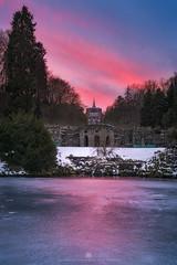 purple sunset over the herkules (Alexander Lauterbach Photography) Tags: kassel deutschland germany hessen herkules bergpark wilhelmshöhe wilhelmshoehe winter snow sunset sonnenuntergang sony a7rii