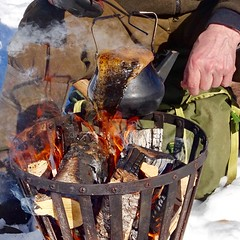 Real coffee on the ice a sunny easter day. (christinalodenius-nyberg) Tags: rust rost fire winter coffee