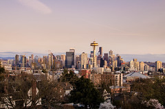 City at Dusk (AdamBidas1.0) Tags: ethereal pink rose dusk softlight goldenhour city cityscape skyline skyscraper architecture design seattle pacificnorthwest usa travel