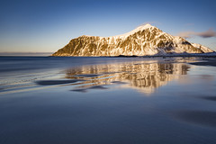 Skagsanden evening (Lukasz Lukomski) Tags: lofoten longexposure lofoty lukaszlukomski landscape nikond7200 sigma1020 reflection skandynawia skagsanden beach plaża