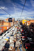 street markets (almostsummersky) Tags: rooftops market roofs vendor teleférico bolivia city clouds morning above urban lapaz elalto sky street sabbatical cablecar buildings mountain southamerica
