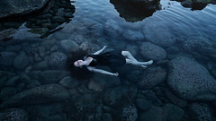float (laura zalenga) Tags: renée girl woman blue coast ocean sea reflection ©laurazalenga rock stone turquoise float floating dress tidepool pool hawaii maui model beautiful pretty sleep calm hair light nature landscape