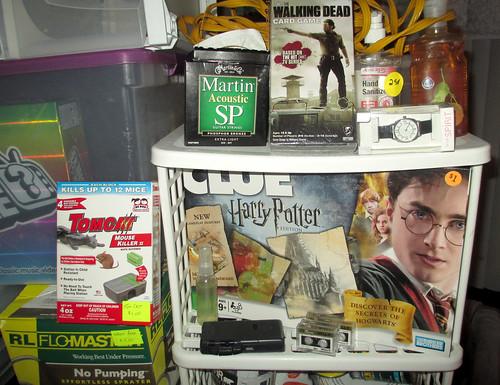 20170702 1550 - yardsale haul - guitar strings, Walking Dead game, mouse killer, watch, Harry Potter game, etc - 155012