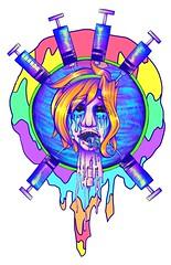 IMG_0419 (EHXKOR) Tags: illustration digitalart aesthetic melting celebration drugs lsd acid psychedelic neon character original originalcharacter oc cartoon day bicycle bicycleday