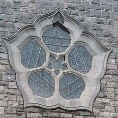 The peculiar rose window of Galway's Cathedral (PhoebeZu) Tags: augustbreak2017 glass rosewindow glasswindow cathedral galway ireland church galwaycathedral