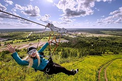 #Temporary thrill experiences for #Events. #Boost events with unparalleled marketing potential http://j.mp/2AFaj6X (Skywalker Adventure Builders) Tags: high ropes course zipline zipwire construction design klimpark klimbos hochseilgarten waldseilpark skywalker
