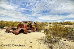 Hot New Model (Scott Sanford Photography) Tags: old abandoned historic ghosttown texas bigbend terlingua sky clouds colors desert rusty canon eos ef2470mmf28lusm 6d travel trip roadtrip vacation springbreak weathered car dodge decay sunlight colorful dramatic