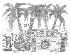 Tiki Tours (rod1691) Tags: myart art sketchbook bw scifi grey concept custom car retro space hotrod drawing pencil h2 hb original story fantasy funny tale automotive illistration greyscale moonpies sketch sexy