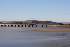 BR-Leyland Sprinter Class 153 with 2C49 17-21 Lancaster to Barrow in Furness crosses the River kent on Arnside Viaduct on 24th March 2018© (steamdriver12) Tags: lancashire main line england spring sunshine cumbrian express brleyland sprinter class 153 2c49 1721 lancaster barrow furness crosses river kent arnside viaduct 24th march