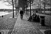 Rotterdam 2018 Antoine Platekade (Hans de Meij) Tags: rotterdam rijnhaven people cobblestones cityscape monochrome blackandwhite street kopvanzuid
