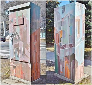 Outside the Box Art Project, Doris Avenue and Hollywood Avenue, Toronto, ON