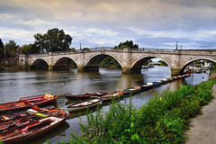 Boats along the River (Jocelyn777) Tags: water reflections waterreflections boats bridges foliage thamesriver trees plants richmond london