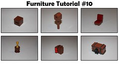 Furniture Tutorial #10 (soccersnyderi) Tags: lego chair design technique tutorial birdhouse chest crate table saddle holder