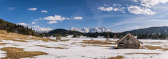 Goodbye winter - welcome spring (hjuengst) Tags: gerold geroldsee wagenbrüchsee hut hütte clouds wolken snow schnee panorama bavaria bayern