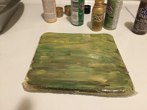 smear the paint