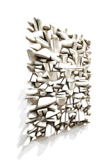 An Abstraction of Sergio de Camargo's Relief (Steve Taylor (Photography)) Tags: art abstract carving digital monocolor monocolour monochrome brown highkey white wood wooden uk gb england greatbritain unitedkingdom london distorted diagonal shape tatemodern shapes bankside sergiodecamargo largesplitrelief no34474 limewood