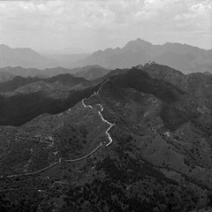 Great Wall (ss9679) Tags: china greatwall beijing hasselblad 120 6x6 square analog history blackandwhite monochrome architecture asia ancient bw cf carlzeiss clouds mountain mountains ilford ilfordhp5400 pushedfilm 800 hc110 kodakhc110 sonnar 150mm zeiss darktable epson4180 epson 500cm film contrast lines filmdev:recipe=11606 film:brand=ilford film:name=ilfordhp5400 film:iso=800 developer:brand=kodak developer:name=kodakhc110