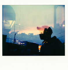 Polaroid Spectra (Louis Dazy) Tags: polaroid spectra double exposure sunset sunrise silhouette dreamy