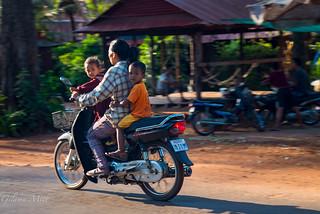 Cambodia,Motorbike, The family affair