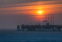 Sonnenaufgang in Scharbeutz (LB-fotos) Tags: sunrise sonnenaufgang cold ice winter sun sonne ostsee baltic sea ocean beach strand pier seebrücke scharbeutz coast küste