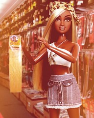 """""""Excuse me, do y'all have this in 1b/27?"""" (sailorb1959) Tags: flavas kiyoni brown street mattel flava doll urban weave 1b27 beauty supply store"""