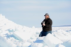 Biologist Vince Cavalieri (U.S. Fish and Wildlife Service - Midwest Region) Tags: greatlakes mackinawcity michigan winter ice 2018 employee photography biologist biology lakehuron lakemichigan seasons spring people frozen cold march mi snow weather outdoorrecreation recreation