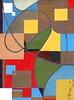 Una Maschera nello Spazio #10 - Artist: Leon 47 ( Leon XLVII ) (leon 47) Tags: abstract painting metaphysical metafisica metaphysics enigma surrealism surrealismo triangulism art triangolismo arte astratta windows finestre minimalism minimalismo maschera mask spazio space leon 47 xlvii