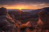 Epic Show of Desert Sunrise Glow - 8620 (J & W Photography) Tags: 2017 aguereberrypoint americansouthwest badwaterbasin california deathvalley deathvalleynationalpark december jwphotography panamintrange badland bedding desert glow landscape mountains nature southwest striatedrock sunburst sunstar sunrise valleyandridge wastserra winter