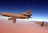 born digital image (San Diego Air & Space Museum Archives) Tags: f14 f14d tomcat kc10 usaf airforce tanker refueling refuel extender vf213 blacklions aerialrefueling tanking cvw8